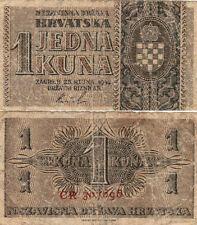 1 KUNA 1942 - JEDNA KUNA ZAGABRIA 25 SETTEMBRE 1942 CROAZIA