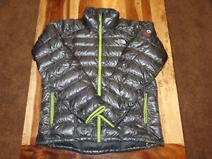North Face Summit Series 800 Pro Down Puffer Jacket Pertex - Mens L - Gray/Green