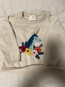 hanna andersson Girls 90 Unicorn Sweater