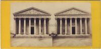 Parigi Chiesa Da La Madeleine Stereo Vintage Albumina Ca 1865