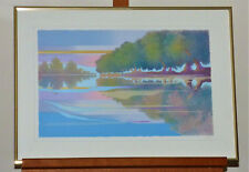 """Sukey Forsman """"The Water's Edge"""" Limited Edition Hand Signed Serigraph Print Art"""