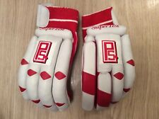 Mens Left Handed Peak Sport Leather Cricket Batting Gloves Brand New