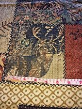 "Patchwork Deer Hunter Fabric 1 Yd x 45"" W Dick Idol Green & Brown Buck Camo"