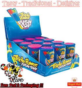 Topps Bazooka Triple Power Push Pop 26g - 12 pack