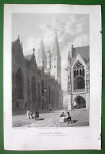GERMANY Brunswick St. Martin's Church - CPT BATTY Antique Print Engraving