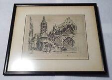 Rare Jean DONNAY ORIGINAL 1928 Signed Framed Drawing-Saint Sevekin-Paris France