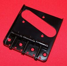 Guitar Parts TELECASTER BRIDGE - Vintage 3 Saddle - Top & Bottom Load - BLACK
