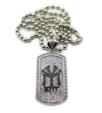"""NEW ICED OUT YOUNG MONEY DOG TAG PIECE WITH 36"""" BALL CHAIN.."""