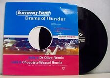 """MAXI 45 tours rpm TOMMY GEE Disque 12"""" DRUMS OF THUNDER Dr Olive Electro Belgium"""