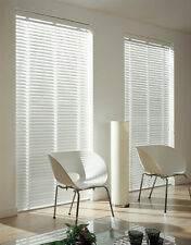New 50mm Basswood Timber Venetian Blinds 240cm wide X 60cm drop- WHITE