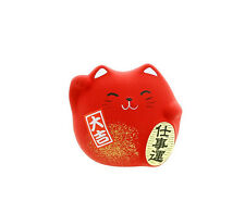 Manekineko Chat Japonais Porte Bonheur Made In Japon Maneki Neko 130r Rouge Red
