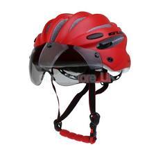 Adult Men Women Bike Safety Helmet Cycle Helmet Visor Adjustable Stap Red