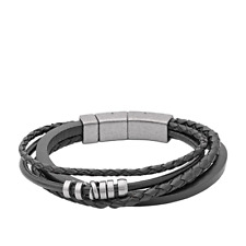 FOSSIL Armband JF85299040 Leder schwarz
