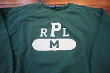 VTG Polo Ralph Lauren RPL Athletic Crewneck Sweatshirt Green M 92 93 CPRL