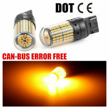 2x T20 7440 3014 SMD AMBER INDICATOR LIGHT BULBS CANBUS ERROR FREE 2 PIN 12V HL