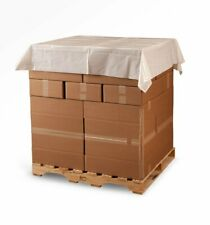 60 X 60 15 Mil Clear Plastic Pallet Cover Top Sheet 250 Bagsroll Laddawn