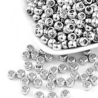 150 Kunststoff Silber Perlen 7mm Luxus CCB Zwischenteile Spacer Schmuck R296