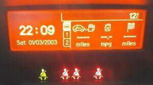 PEUGEOT 207 LCD CLOCK / MFD MULTI FUNCTION DISPLAY UNIT SCREEN GTI 175 CC