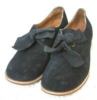 Kork-Ease Womens Size 6.5M Black Suede Leather Tie Oxford