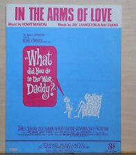 In The Arms of Love - 1966 sheet music - from What Did You Do in the War Daddy?