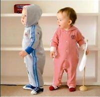 Boys Girl Baby Kids Children Tracksuit Cotton Sports Bodysuit Hoodie Romper Prop