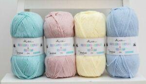 Cygnet Pure baby DK Wool Soft Acrylic Super Safe Knitting Yarn 100g - CLEARANCE