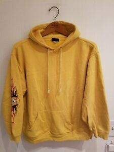 Vintage Gotcha 90s 1900s grunge style Hoodie Unisex Small preowned Skull Flames