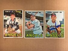 California Angels Signed 1967 Topps Card Lot(3)Knoop,Schaal, Tom Egan