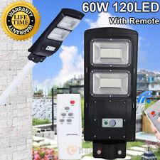 60W Solar Powered 120 LED Street Light Radar Indution PIR Wall Lamp W/ Remote