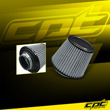 """3.5"""" Stainless Steel Cold Air Short Ram Cone Intake Filter Black Ford F150"""