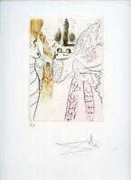 DALI SALVADOR GRAVURE 1972 SIGNÉE CRAYON ANNOTÉE EA ML557 HANDSIGNED EA ETCHING