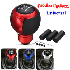 Red 5 Speeds Car Gear Stick Shift Knob Universal Maunal Shifter Lever Cover