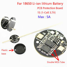 5A Round PCB Protection Circuit Board for 18650 3.7V Li-ion lithium Battery Cell