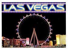 Las Vegas High Roller Observation Wheel Postcard New Ferris Night Lights Linq
