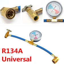 R134a Car Air Conditioning A/C Recharge Measuring Hose Refill Pipe Gauge Adapter