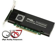 CARTE CONTROLEUR PCIe 3.1 16x POUR 4 SSD M2 NVME - 4x M.2 NGFF - ASM2824