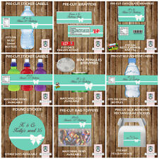 PERSONALISED TIFFANY & Co STYLE PARTY ITEMS FRUIT SHOOT LABELS KITKAT WRAPPERS