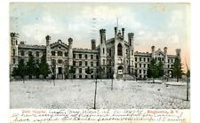 Binghamton NY - STATE HOSPITAL BUILIDNG IN WINTER - Postcard