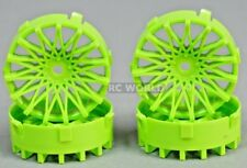 Tetsujin DAHLIA Mesh RC Car 1/10 Wheels GREEN Adjustable Offset 3-6-9mm -4 RIMS