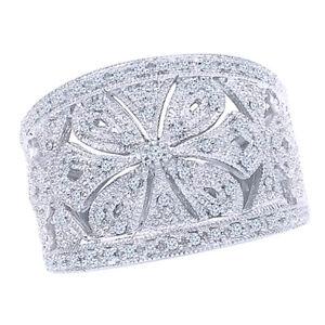 0.33Ct Round Real Diamond 14K White Gold Fashion Wedding Ring For Womens -IGI-