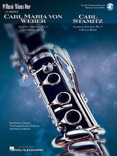 Weber Concerto No 1 F Minor Op 73 Stamitz No 3 Clarinet Sheet Music Book Audio