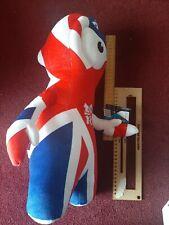 London 2012 Olympics Union Jack Red Blue Plush Soft Toy  Wenlock Mascot large