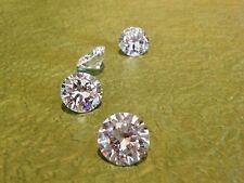 2 pcs -  5 mm WHITE Russian Lab Diamond BRILLIANT CUT 0.5 ct