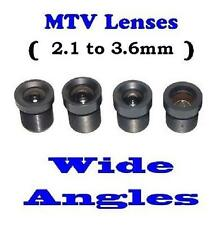 Sunvision CCTV Monofocal Board Mount M12 / MTV Wide Angle Lens Set (set of 4)