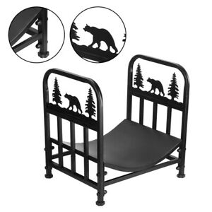 Household Supplies Special Bear Shape Firewood Rack Practical Save Space Easy To