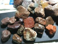 5 lb RED JASPER  Bulk Tumbling Rough Rock Stones Healing Crystals Alaska 25 pcs.