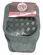 Opel Monza Grey 650g Velour Carpet Car Mats - Salsa Rubber Heel Pad