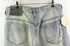 FCUK Mens FRENCH CONNECTION Jeans STRAIGHT DISTRESSED Stonewashed W32 L33 P85