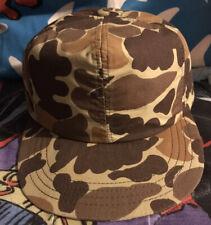 Vintage Cabelas Sydney,Nebr Goretex SnapBack Hat Camo Waterproof Cap Made In USA