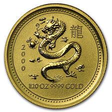 2000 Australia 1/20 oz Gold Lunar Dragon BU (Series I) - SKU #8990